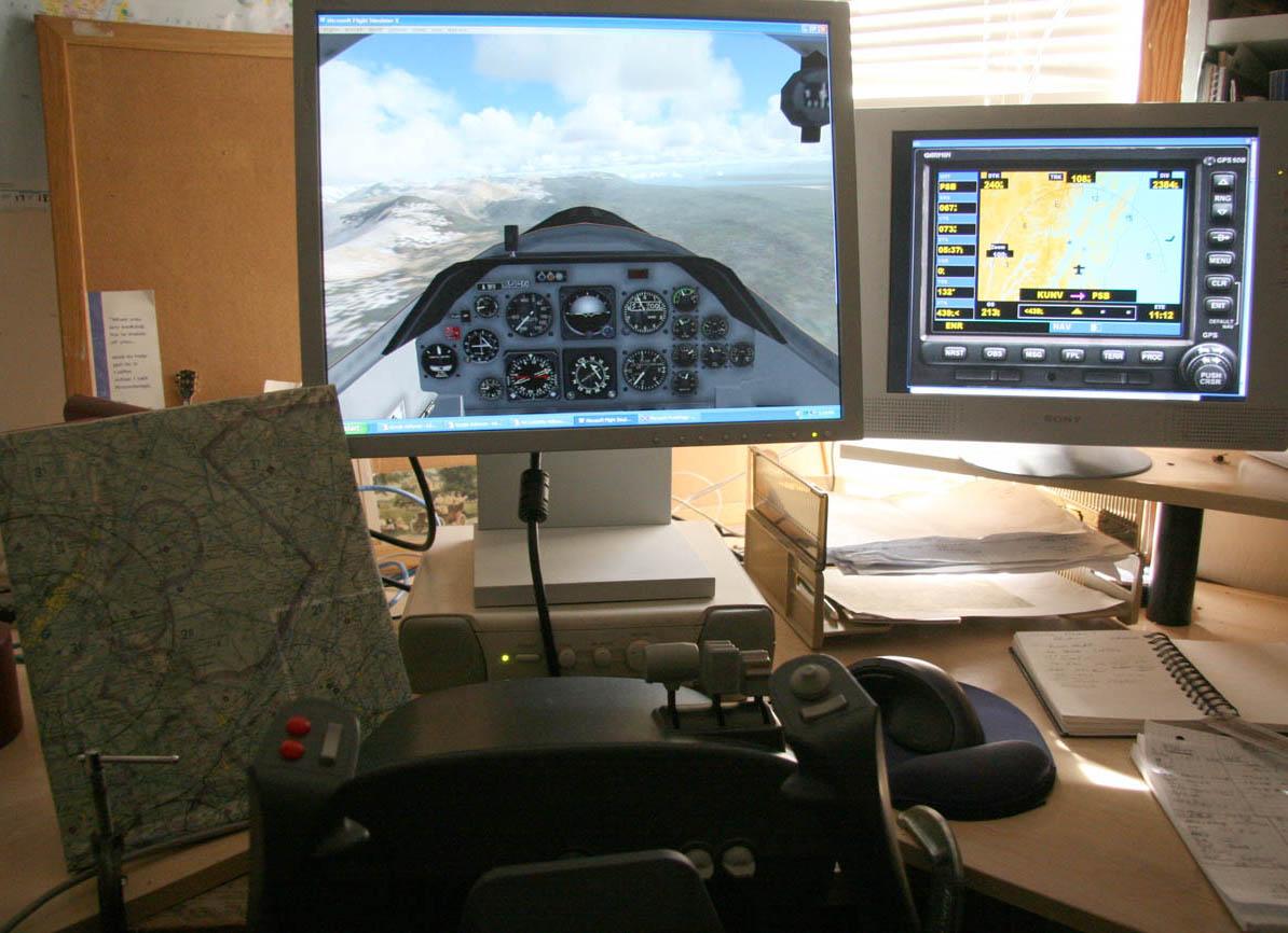 Home flight simulator set up - Flight Simulator Training Aircraft Practice