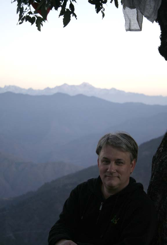 Paul E. Smyres visiting his country of birth in the mountains of India.