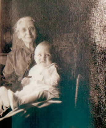 Old lady and a  baby -- inherited copyright from Grandfather -- circa 1925  SOLD